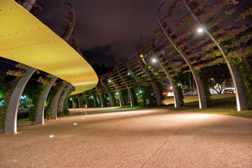 Brisbane City - Southbank At Night - Queensland - Australia