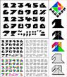 Tangram font, fixed-height alphabet, figures 0-9 & symbols
