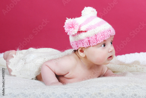 small beautiful newborn girl
