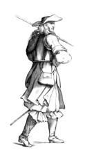 A soldier : Piquier - 17th century