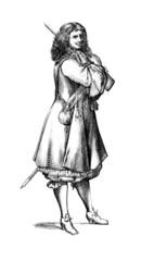 A soldier : Garde de la Chambre - 17th century