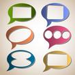 Creative speech bubbles