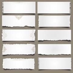 Ten notes paper