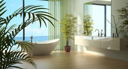 Modern Luxury Bathroom Design Interior by the sea
