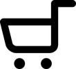 Vector icon isolated on white - Shopping cart