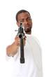 Gangster with an AK47 assault gun.