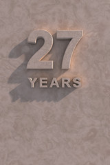 27 years 3d text