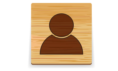 wood user button