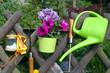 Garten Zaun Werkzeug Blumen