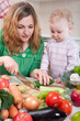 Vegetable salad preparation