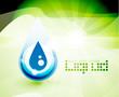 Natural water drop concept