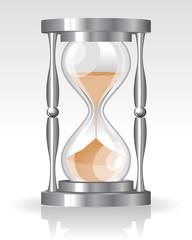 Glass sand clock