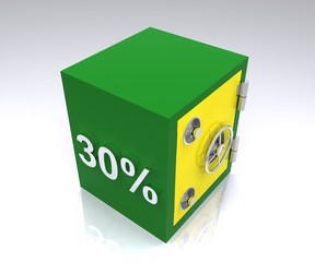 30 percent deposit bank safe