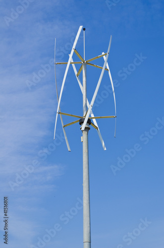 Vertical axis silent wind turbine