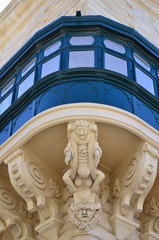 Detail from the balcony of the Grandmaster's Palace in Valletta