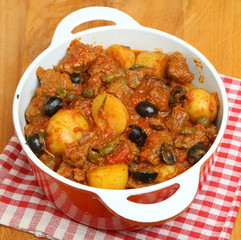 French Beef Casserole with Potatoes and Olives