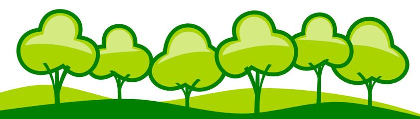 Panorama Bäume abstrakt