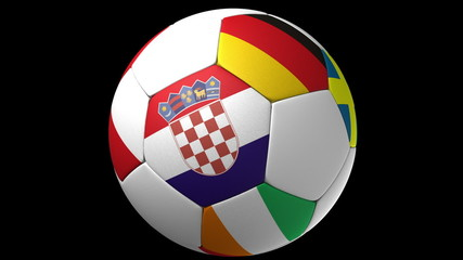 Soccer ball with european countries from EURO 2012.