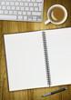 blank spiral desk pad