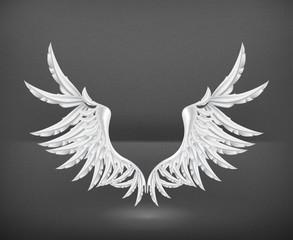 Wings White, vector