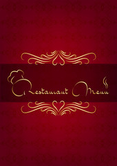 Kırmızı restorant kapağı