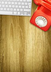 retro desk space