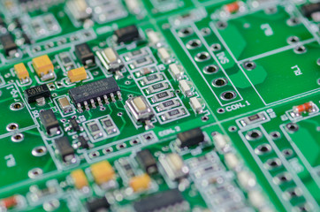 Electronic circuit chip on board.