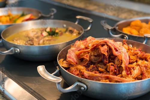 Bacon prepared for breakfast