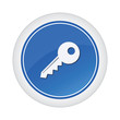 key blue glossy button