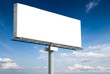 Blank billboard on blue sky