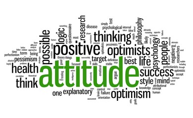 Attitude concept in tag cloud
