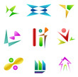 set of different abstract symbols for design