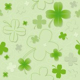 Four Leaf Clover - Repetitive Pattern poster