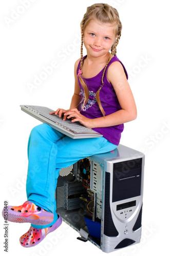 Mädchen mit PC
