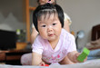 Chinese baby make faces