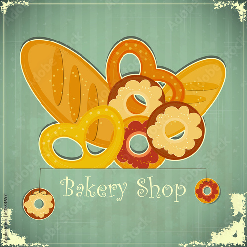 Vintage card for Bakery Shop