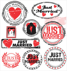 Just married stamps