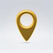 Navigation point golden symbol