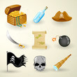 Vector illustration of pirate elements