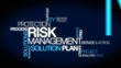 Risk management tag cloud animation video