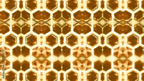 Looping background with honeycomb source