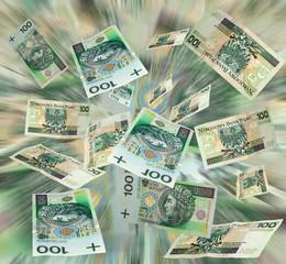 Money polish flying