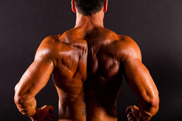rear view of a bodybuilder's back