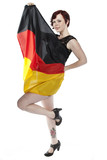 girl with the flag of germany