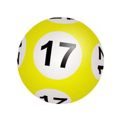 Tirage loto, boule numéro 17