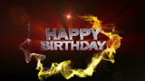Happy Birthday Text in Particle (Double Version) - HD1080