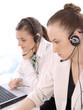 Portrait of successful female customer service representatives