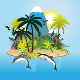 Fototapete Strand - Vögel - Hintergrund