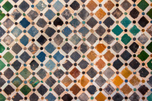 Dachówka dekoracje, pałac Alhambra, Hiszpania