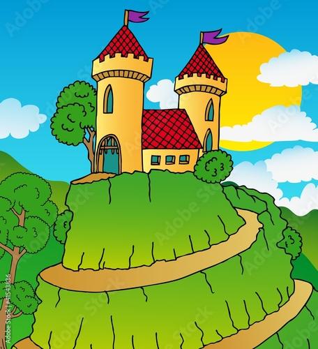 Papiers peints Chateau Castle on hill
